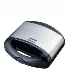 Sandwich Maker Hausberg 750 W hb3520, functie grill, sistem antialunecare, negru+inox, model grill
