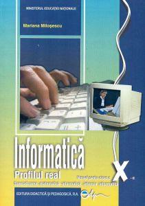 Informatica, manual pentru clasa a X-a, C++- profil real intensiv, specializarea matematica-informatica