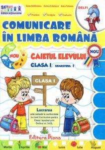 Caietul elevului clasa I Comunicare in limba romana semestul I