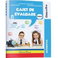 Caiet de evaluare - matematica teste clasa a III-a