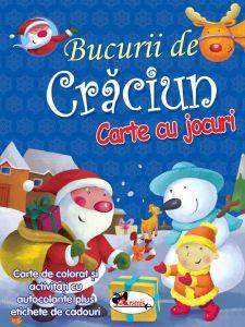 Bucurii de Craciun ( carte de colorat si activitati cu autocolante )