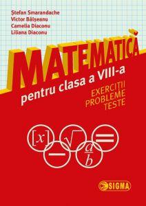 Matematica pentru clasa a VIII-a. Exercitii. Probleme. Teste