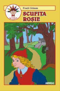 Scufita rosie - Carticica de povesti, de citit si colorat - Fratii Grimm