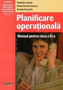 Planificarea operationala manual pentru clasa a XI-a