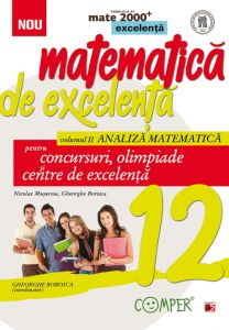 Matematica de excelenta. Pentru concursuri, Olimpiade si centrele de excelenta. Clasa a XII-a. Volumul II – analiza matematica