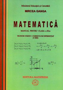 Matematica manual pentru clasa a XI-a trunchi comun + curriculum diferentiat ( 3 ore )