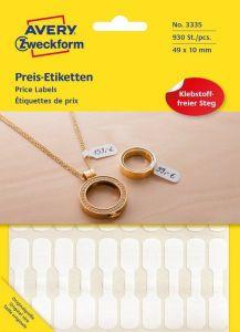 Etichete pentru bijuterii Avery-Zweckform 3335