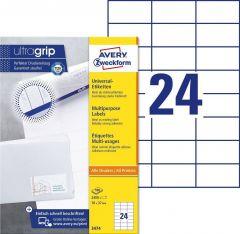 Etichete universale Avery-Zweckform 3474, 70x37 mm