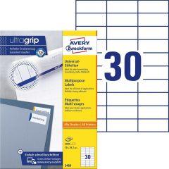 Etichete universale Avery-Zweckform 3489, 70x29,7 mm