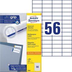 Etichete universale Avery-Zweckform 3668, 52,5x21,2 mm
