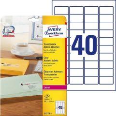 Etichete transparente Avery-Zweckform L4770-25