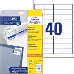 Etichete universale Avery-Zweckform 4780, 48,5x25,4 mm