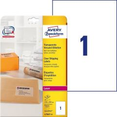 Etichete transparente Avery-Zweckform L7567-25