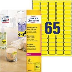 Etichete galben neon Avery-Zweckform L7651Y-25