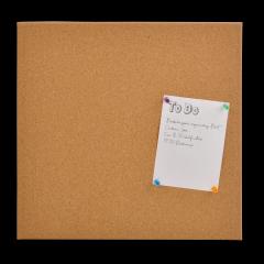Tabla din pluta, DESQ 4213, 35 x 35 x 1.7 cm, fara rama, kit montare inclus