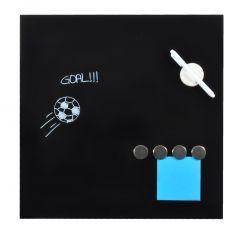 Tabla magnetica, din sticla, DESQ 4252.09, 45 x 45 cm, fara rama, neagra
