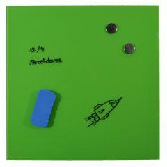 Tabla magnetica, din sticla, DESQ 4252.15, 45 x 45 cm, fara rama, verde