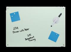 Tabla magnetica, din sticla, DESQ 4253, 60 x 90 cm, fara rama, alba