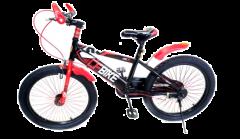 """Bicicleta CFBIKE, Roata 20"""", Negru-Rosu, Tip BMX, Spite Groase Colorate, Model 2019"""