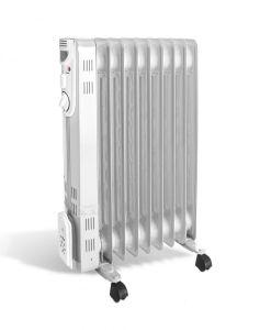 Calorifer electric Argo Silence 9, 2000 W, 9 elementi, 3 trepte de putere, Protectie supraincalzire, Termostat, LED
