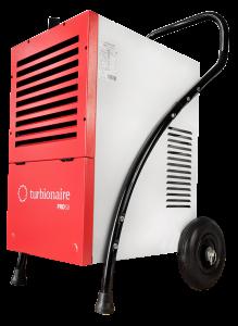 Dezumidificator profesional TURBIONAIRE PRO 50, pana la 53 l/zi, higrostat electronic, control digital, afisare umiditate, rezervor incorporat 4.3 l, roti robuste pentru transport facil