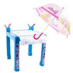 Masa cu accesorii de colorat Vampirina + Umbrela Barbie 68 cm