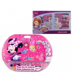 Mega set de colorat 5in1 Minnie + Stickmania Sofia Intai