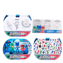 Mega set de colorat 5in1 PJ Masks + Set 3 tablouri de colorat PJ Masks