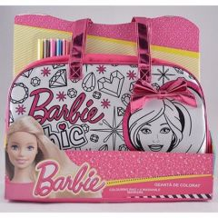 Geanta de colorat Barbie Happyschool