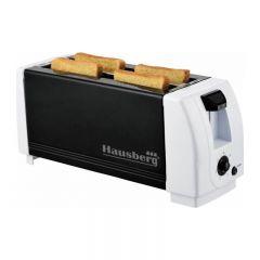 Prajitor de paine Hausberg HB 185, 4 felii, 1300W, 7 trepte temperatura, negru