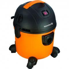 Aspirator cu aspiratie umeda si uscata Hausberg HB-2095, 1200 W, Capacitate mare 15 L, Portocaliu