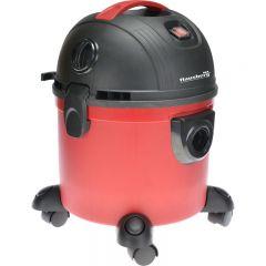 Aspirator cu aspiratie umeda si uscata Hausberg HB-2095, 1200 W, Capacitate mare 15 L, Rosu