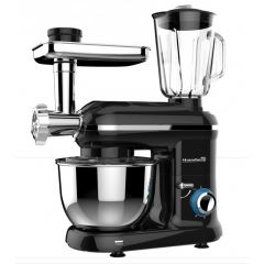 Robot de bucatarie multifunctional All-in-one Hausberg HB-7610, 1500 w, mixer/blender/tocat carne, negru