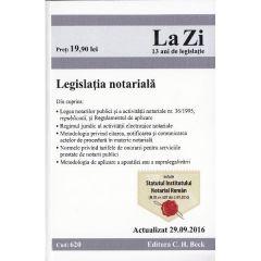 Legislatia notariala. Actualizata 29.09.2016