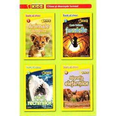 Set 4 volume National Geographic Kids: Citesc si descopar lumea!