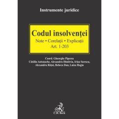 Codul insolventei Art.1-203. Note. Corelatii. Explicatii - Gheorghe Piperea