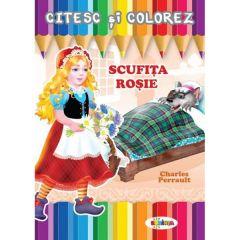Citesc si colorez: Scufita Rosie