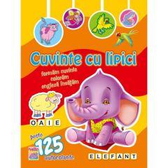 Cuvinte cu lipici Elefant