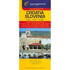 Croatia Slovenia - Harta