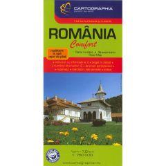Romania - Harta turistica si rutiera laminata