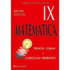 Matematica Cls 9 Tc+Cd - Marius Burtea, Georgeta Burtea