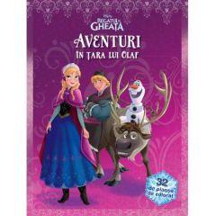 Aventuri in tara lui Olaf - Disney Regatul de Gheata (32 de planse de colorat)