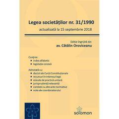 Legea societatilor nr.31 din 1990 actualizata la 15 septembrie 2018 - Catalin Oroviceanu