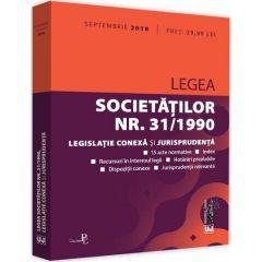 Legea societatilor nr. 31 din 1990. Septembrie 2018