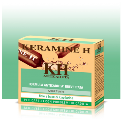 Tratament impotriva caderii parului actiune intensa Kapilarine Keramine H 12 fiole x 6ml
