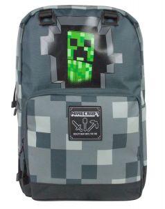 Ghiozdan Minecraft ORIGINAL licenta Jinx 44cm Creeper Grey