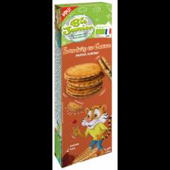 Biscuiti Eco Sandvis cu crema de cacao 185g Bio Junior