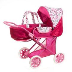 Carucior  pentru papusi Azimut Iga Lux roz/rosu