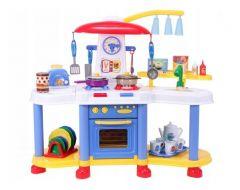 Bucatarie pentru copii MalPLay cu electrocasnice, robinet si accesorii 61 x 72 cm