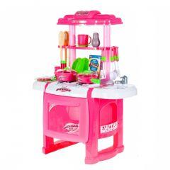 Bucatarie Malplay pentru copii cu accesorii si cuptor, roz